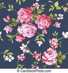 Seamless Flower Background - in vector