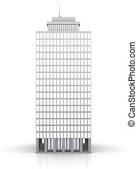 Urban building - 3D rendered illustration. Isolated on...