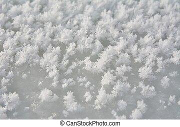 Texture of white snow
