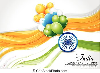 indian flag wave background with