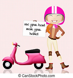 use your head, wear your helmet - illustration of use your...