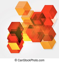 Abstract background of 3d cubes. - Vector abstract...