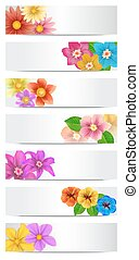 Set of floral banners.