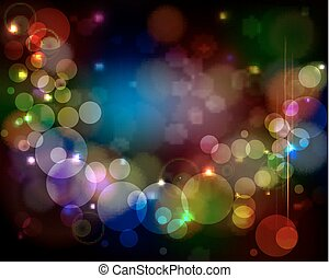 Abstract light background - glowing circles with lens flare.