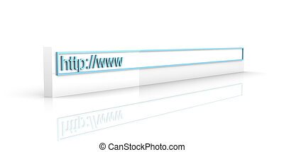 Web Address - 3D rendered Illustration