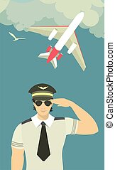 pilot of the plane on theman in the form of a pilot on the...