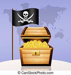 treasure chest - illustration of treasure chest
