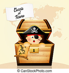 treasure hunt - illustration of treasure hunt