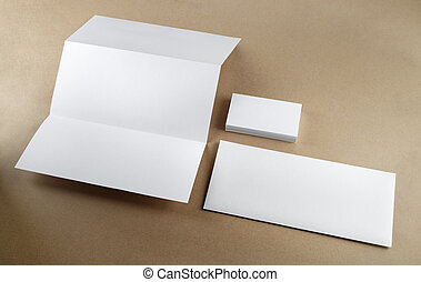 Corporate identity set - Blank corporate identity set on a...