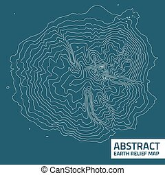 Vector abstract earth relief map Generated conceptual...