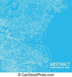 Vector abstract earth relief map. Generated conceptual...