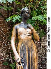 Statue, of, juliet, in, verona, italy, ., The, Juliet's,...