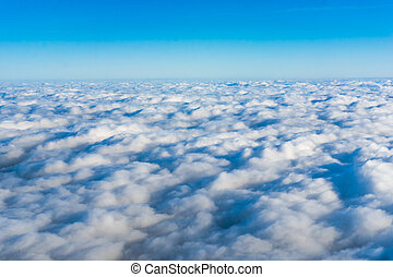 clouds. View from airplane.