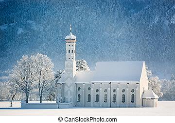 St. Coloman at wintertime, Allgau, Germany