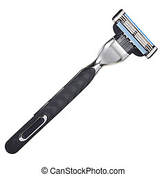 Shaving razor isolated on a white background. With clipping...
