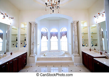 Modern bath room - Ultra luxury bathroom interiors wide...
