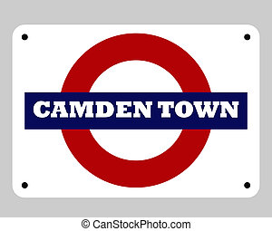 Camden Town Tube sign - Camden Town tube sign isolated on...