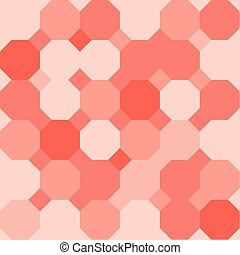 Octagonal Background - Orange octagon shape pattern...
