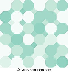 Octagonal Background - Green octagon shape pattern...