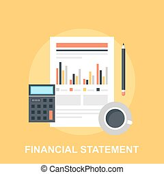 Financial Statement - Vector illustration of financial...