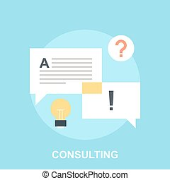 Consulting - Vector illustration of consulting flat design...