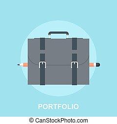 Portfolio - Vector illustration of portfolio flat design...