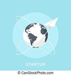 Startup - Vector illustration of startup flat design...