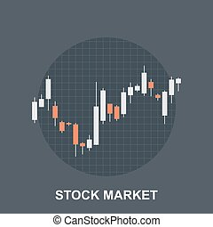 Stock Market - Vector illustration of stock market flat...