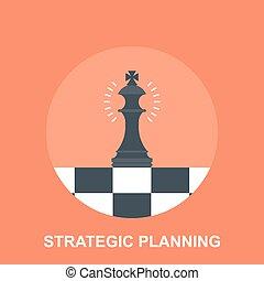 Strategic Planing - Vector illustration of strategic...