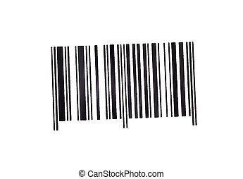 bar code marking of goods isolated on white background