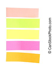 Blank colorful sticky notes ready for your text. - Blank...