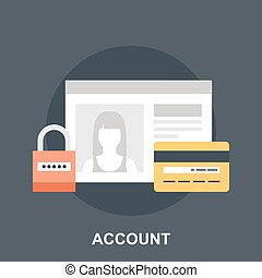 Account - Vector illustration of account flat design concept...