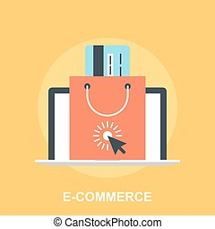 E-commerce - Vector illustration of e-commerce flat design...