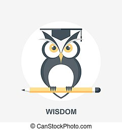 Wisdom - Vector illustration of wisdom flat design concept.