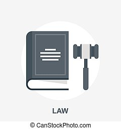 Justice - Vector illustration of law and justice flat design...