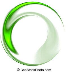 Abstract elegance background. Green - white palette. Raster...