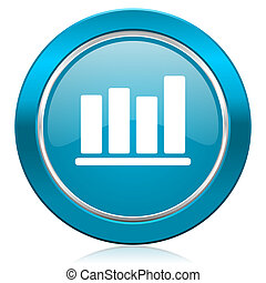 bar chart blue icon