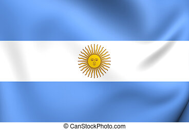 Flag of Argentina Close Up