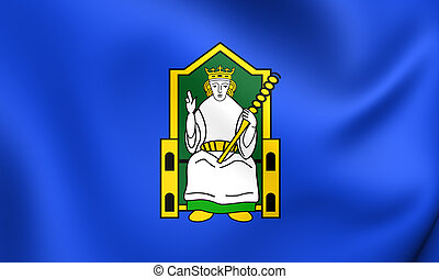 Flag of Mide, Ireland. Close Up.