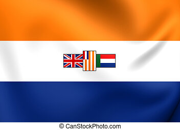 Flag of South Africa (1928-1994). Close Up.