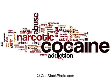 cocaína, palavra, nuvem,