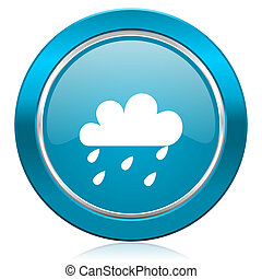 rain blue icon waether forecast sign