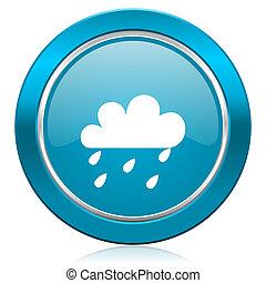 pioggia, blu, icona, waether, Previsione, segno,