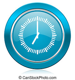time blue icon clock sign