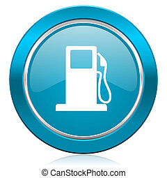 petrol blue icon gas station sign