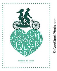 Vector white on green alphabet letters couple on tandem...