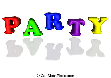 Balloon inflated letters party colorful primary 3d - Balloon...