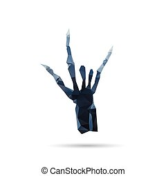 X-ray hand isolated on a white backgrounds