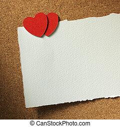 心, カード, ホリデー
