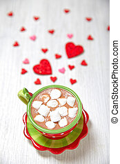 Hot chocolate for Valentine day